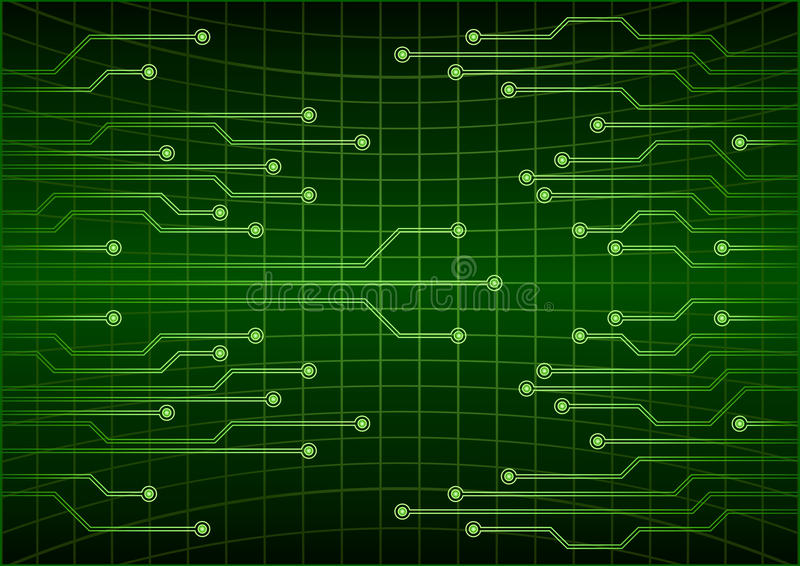 Fundo futuro do conceito da tecnologia do cyber abstrato verde, circuito, código binário Ilustração do vetor do EPS 10 ilustração stock