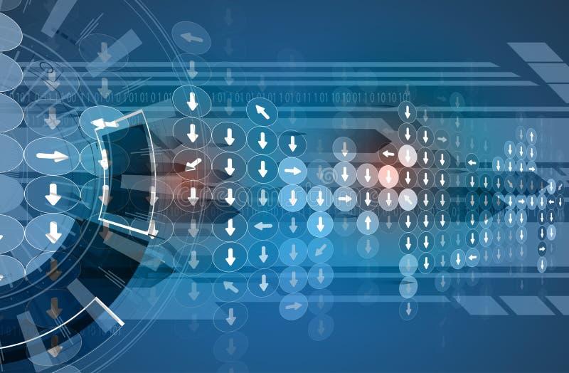 Fundo futuro novo do sumário do conceito da tecnologia ilustração stock