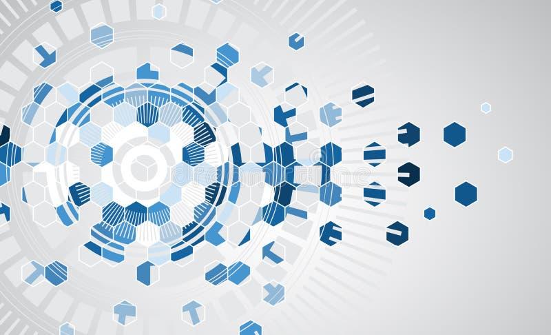 Fundo futuro novo do sumário do conceito da tecnologia ilustração royalty free