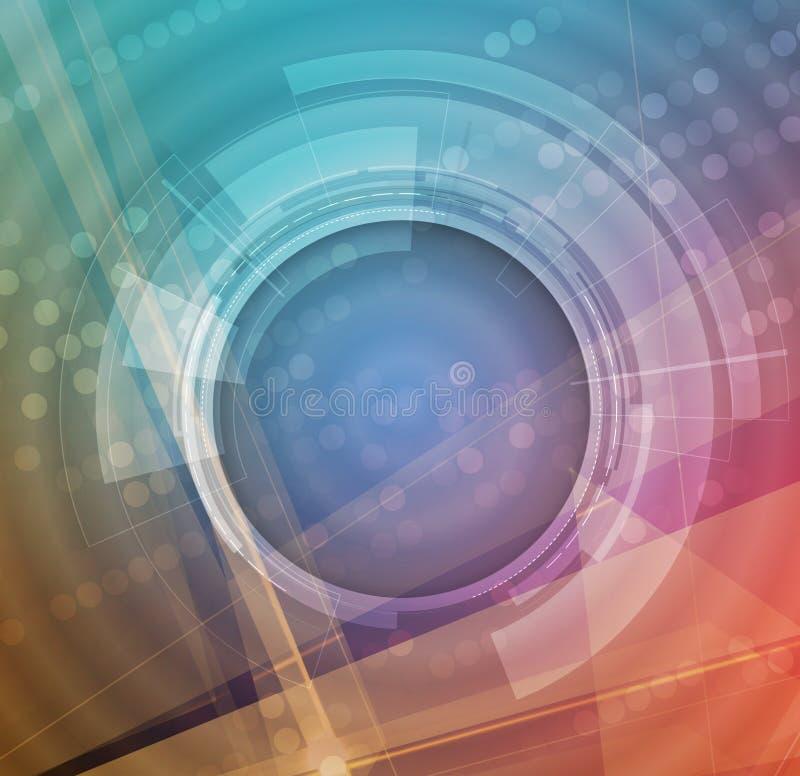 Fundo futuro novo do sumário do conceito da tecnologia ilustração do vetor
