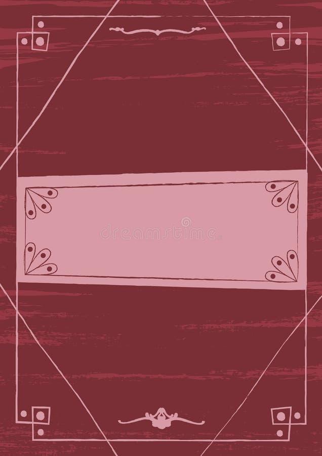 Fundo gótico vitoriano e quadro do estilo ilustração do vetor