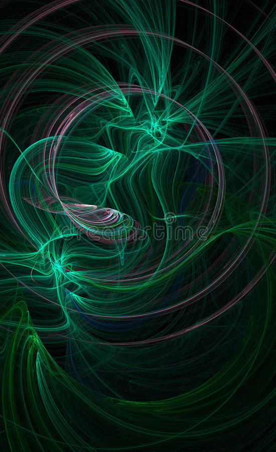 Fundo galáctico verde ilustração stock