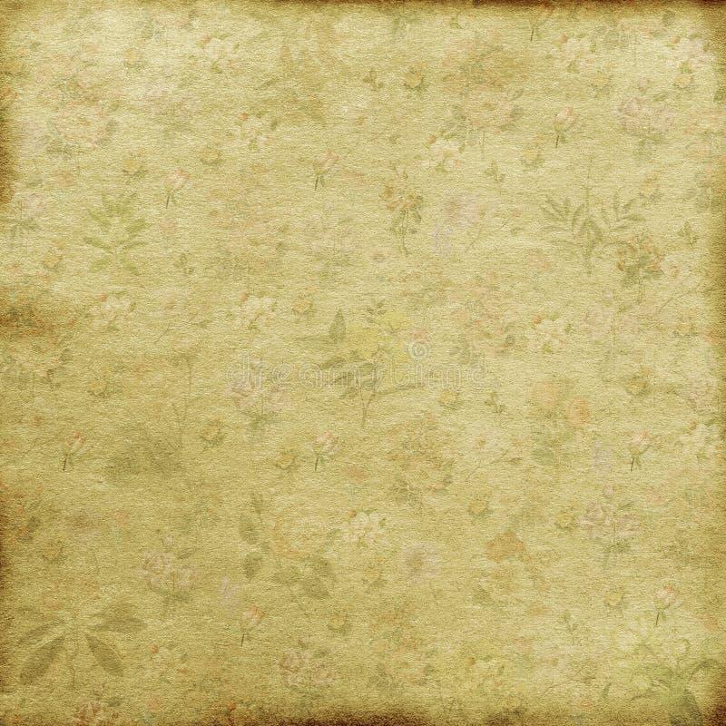 fundo gasto do papel de parede floral da antiguidade do vintage ilustração royalty free