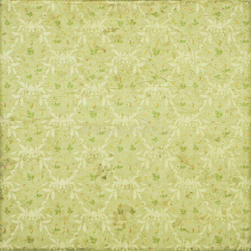 Fundo gasto do teste padrão da repetição da flor do ornamento do vintage ilustração royalty free