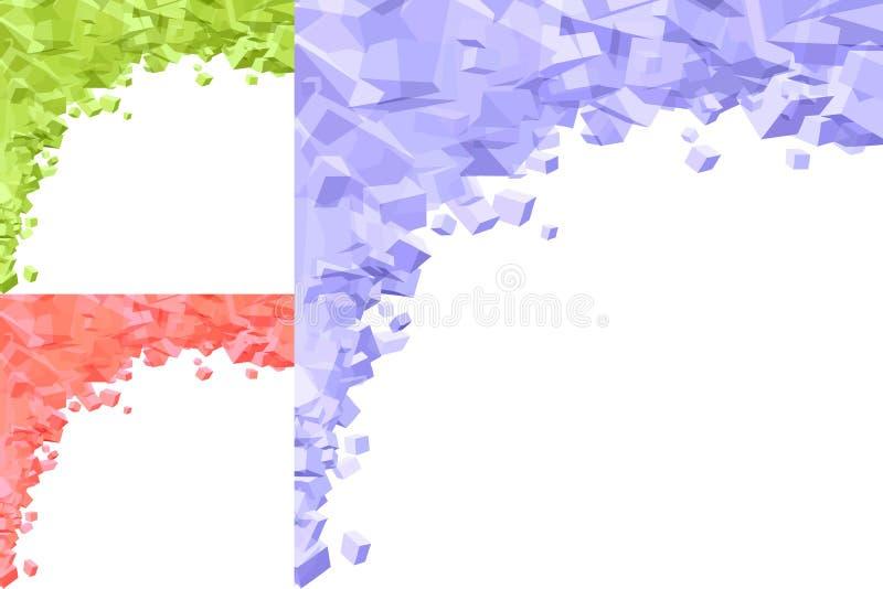 Fundo geométrico ilustração do vetor
