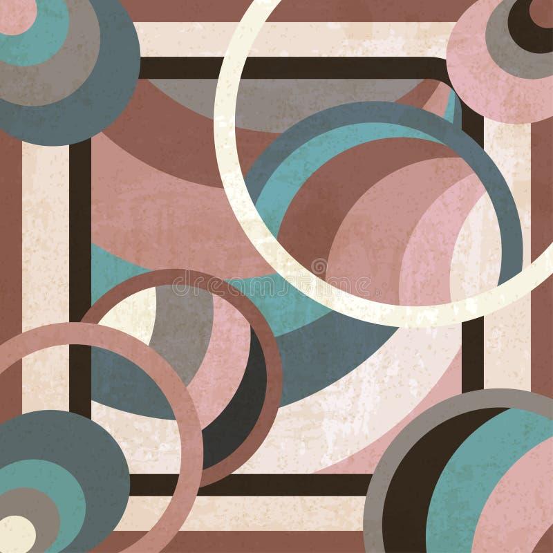 Fundo geométrico ilustração stock