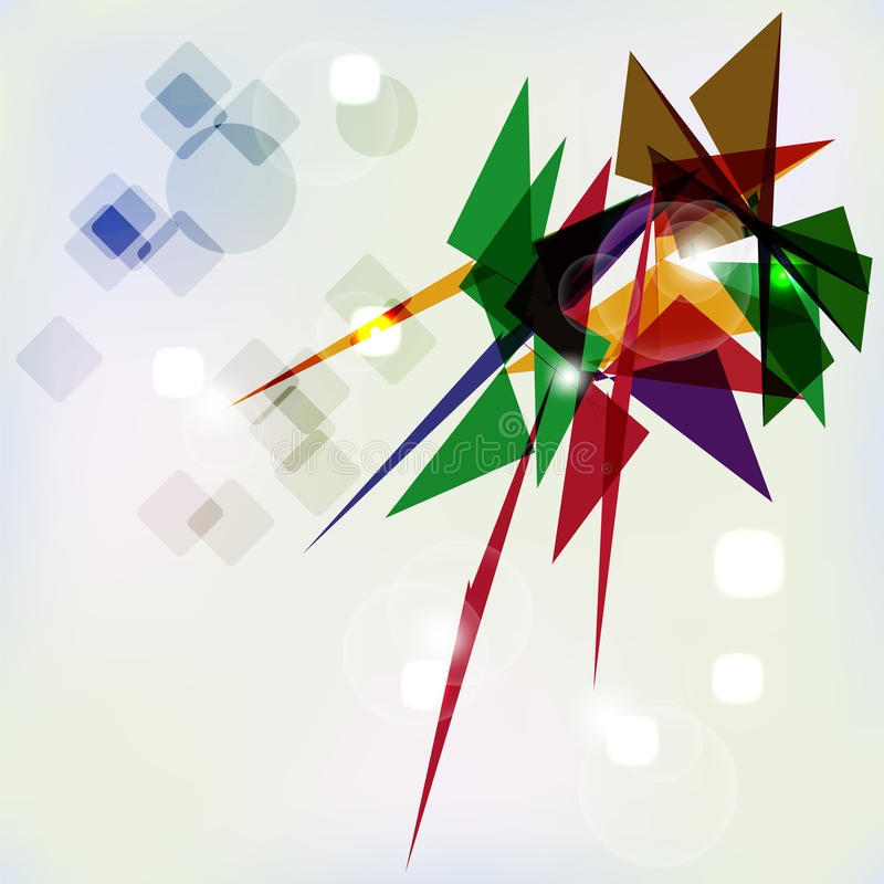 Fundo geométrico abstrato. ilustração do vetor