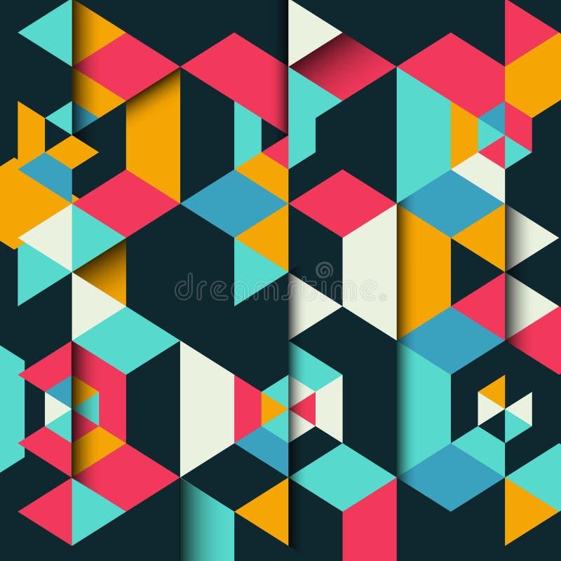 Fundo geométrico abstrato ilustração do vetor