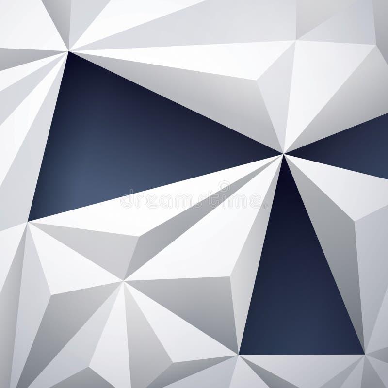 Fundo geométrico abstrato ilustração royalty free