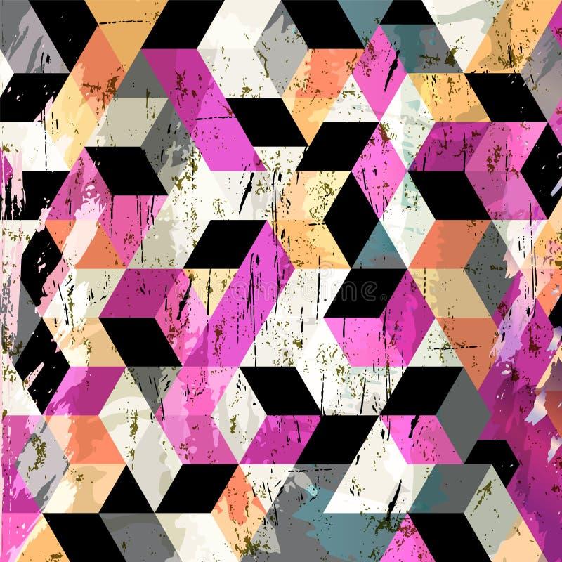Fundo geométrico abstrato, ilustração stock