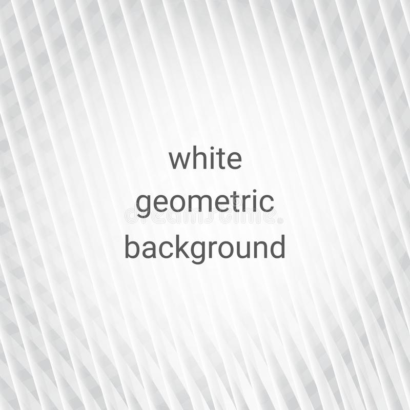 Fundo geométrico abstrato branco ilustração royalty free