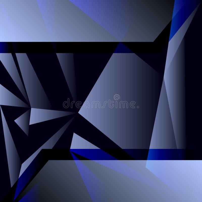 Fundo geométrico abstrato colorido com polígono triangulares ilustração royalty free