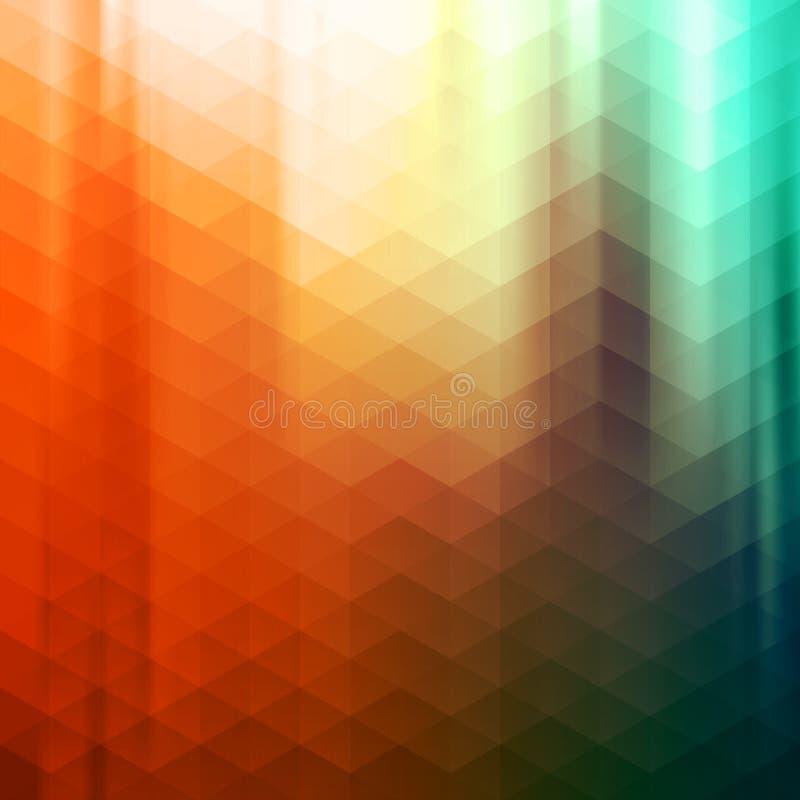 Fundo geométrico abstrato colorido do vetor ilustração stock