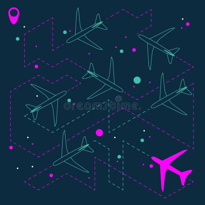 Fundo geométrico abstrato com aviões fotos de stock royalty free