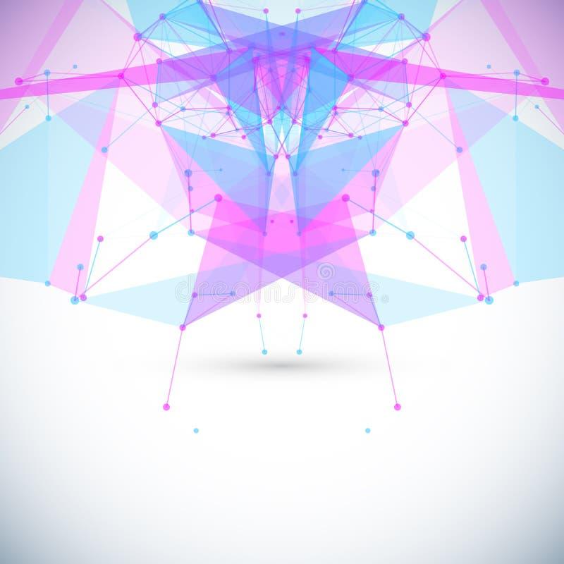 Fundo geométrico abstrato com círculos, linhas ilustração royalty free