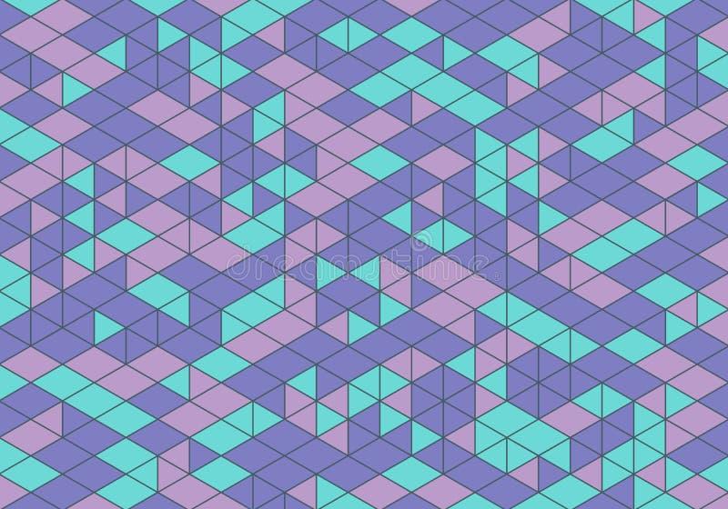 Fundo geométrico abstrato com formas coloridas do mosaico Ilustração digital do vetor ilustração stock