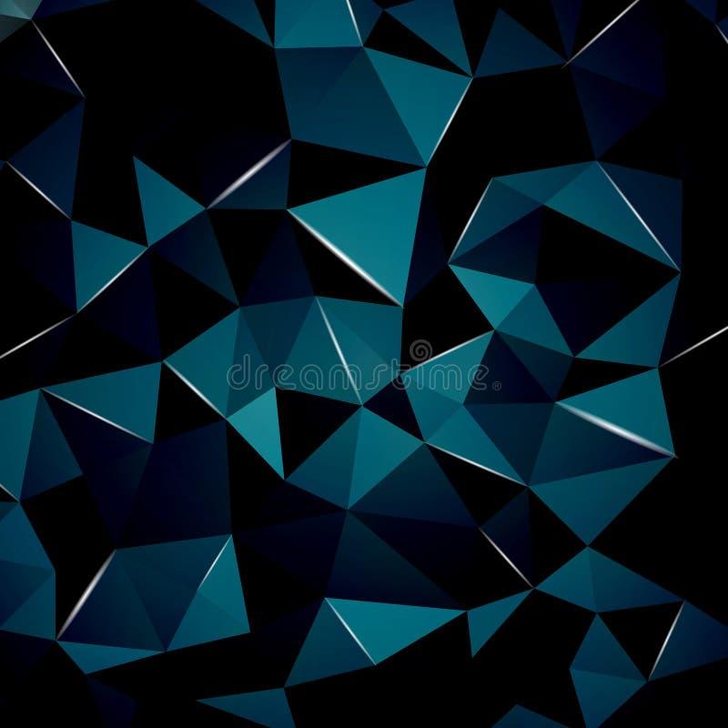 Fundo geométrico abstrato com luzes brilhantes da perspectiva Ideal para o projeto da tampa, os trabalhos do conceito da tecnolog ilustração do vetor