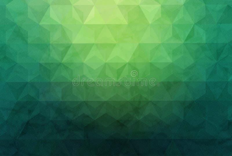 Fundo geométrico abstrato com polígono Composição dos gráficos da informação com formas geométricas Projeto retro da etiqueta ilustração royalty free