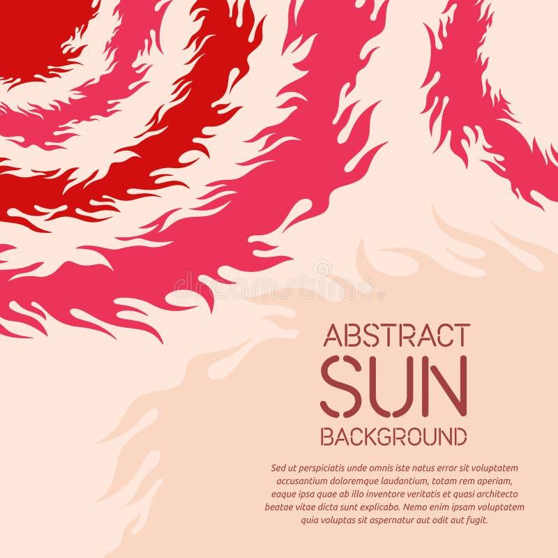 Fundo geométrico abstrato com tema do sol ilustração royalty free