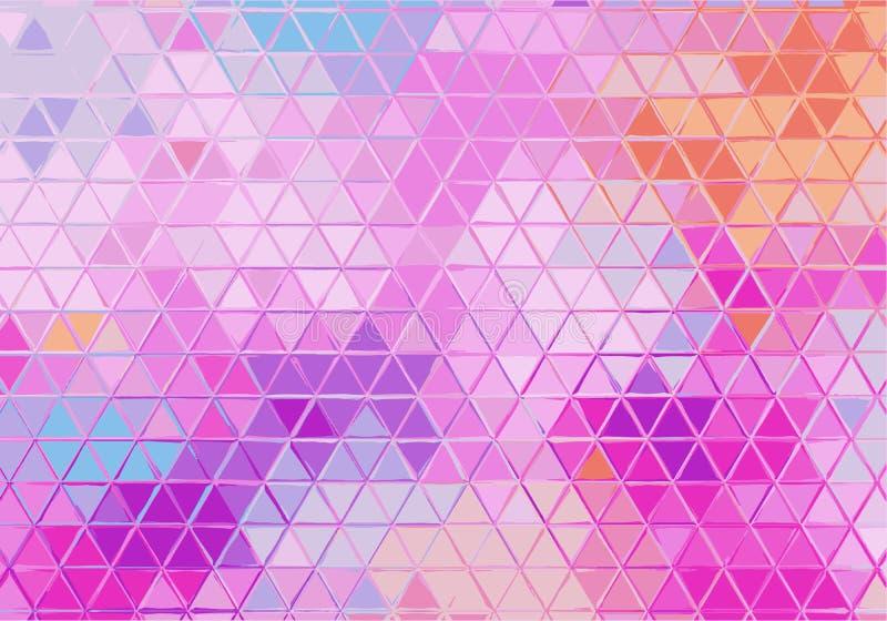 Fundo geométrico abstrato com triângulos coloridos Teste padrão com inclinação pastel Textura do vetor ilustração do vetor