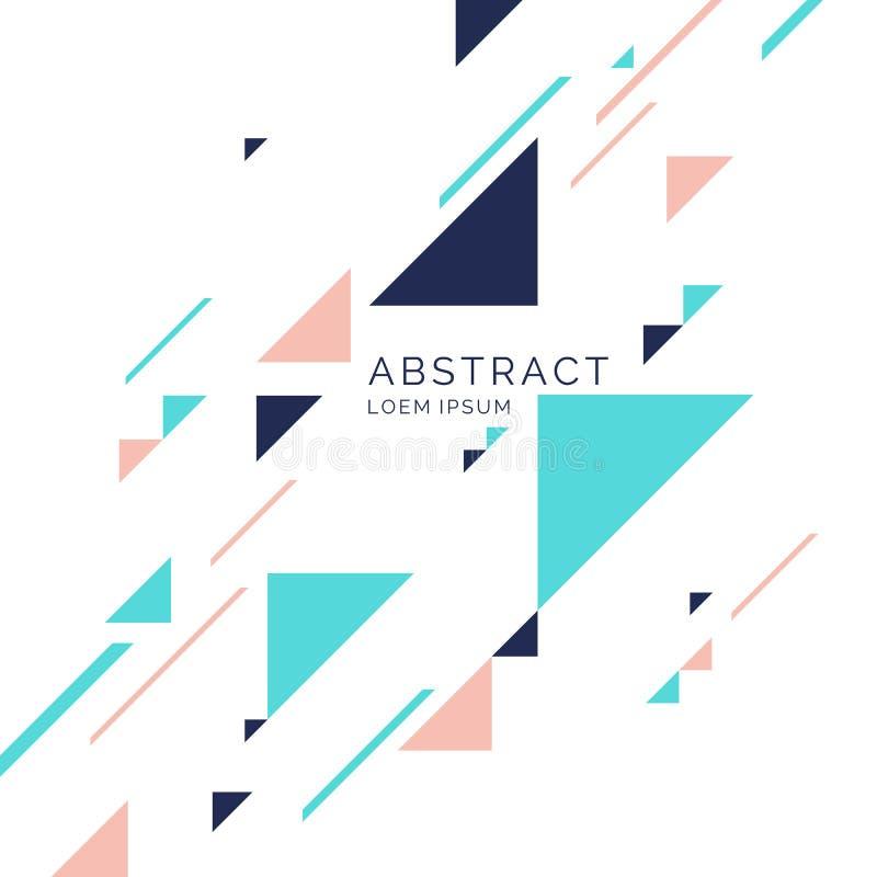 Fundo geométrico abstrato com triângulos em um estilo liso, minimalistic ilustração stock
