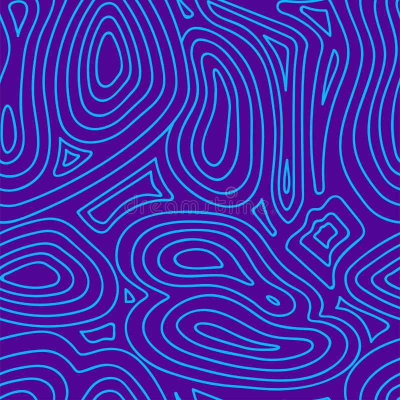 Fundo geométrico abstrato criativo com linha fundo roxo e azul do vetor ilustração royalty free
