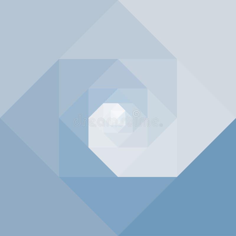 Fundo geométrico abstrato da espiral do redemoinho ilustração stock