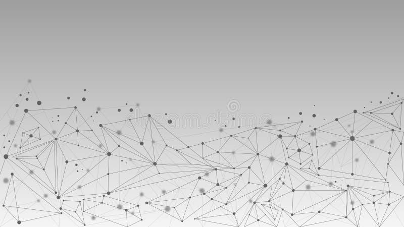 Fundo geométrico abstrato da molécula e da comunicação ilustração do vetor