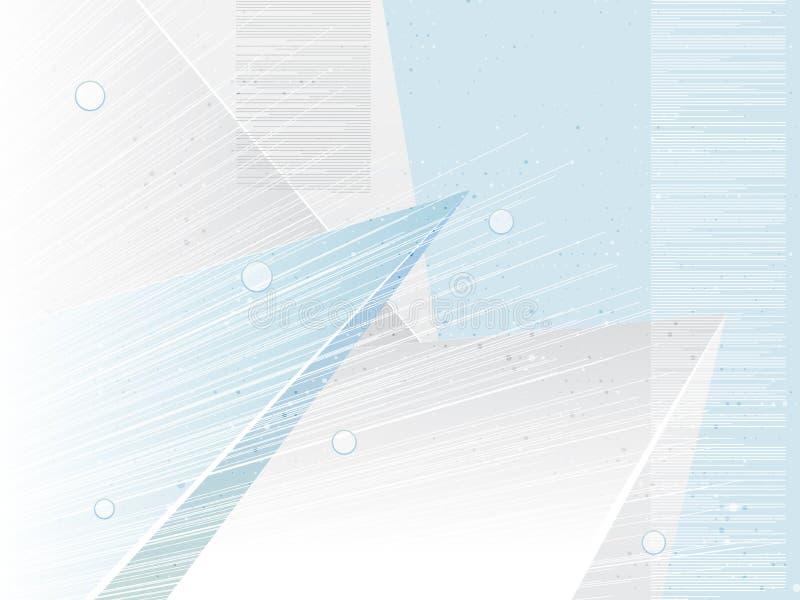 Fundo geométrico abstrato das formas O azul branco tonifica o papel de parede da tecnologia Conceito claro do negócio Ilustração  ilustração stock