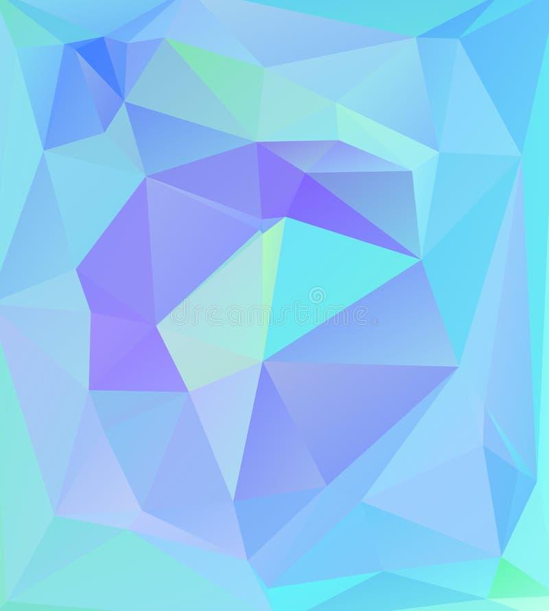 Fundo geométrico abstrato de polígono triangulares Teste padrão na moda brilhante do triângulo retro do mosaico para a Web, molde ilustração stock