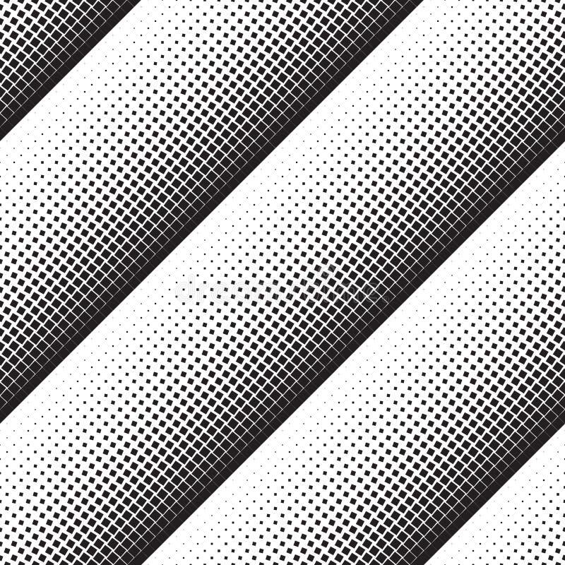 Fundo geométrico abstrato de quadrados de giro pretos ilustração do vetor
