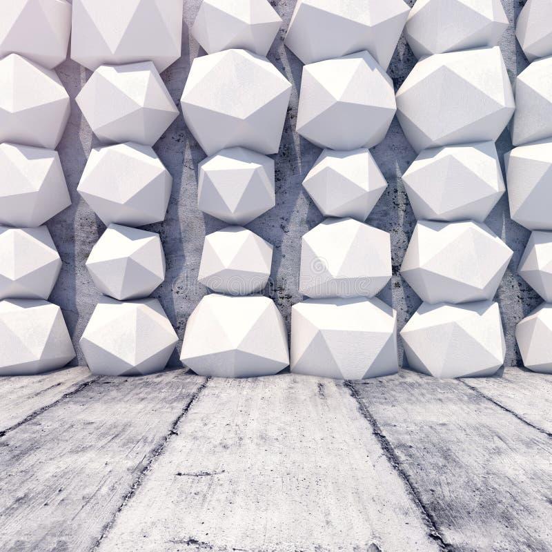 Fundo geométrico abstrato do concreto ilustração do vetor