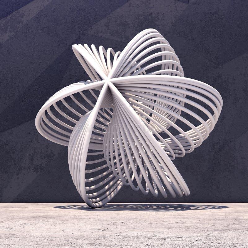 Fundo geométrico abstrato do concreto ilustração royalty free