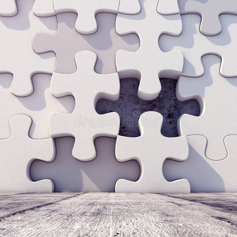 Fundo geométrico abstrato do enigma do ilustração do vetor