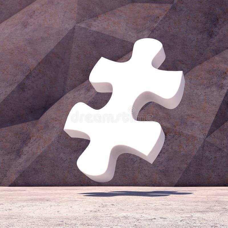 Fundo geométrico abstrato do enigma do ilustração royalty free