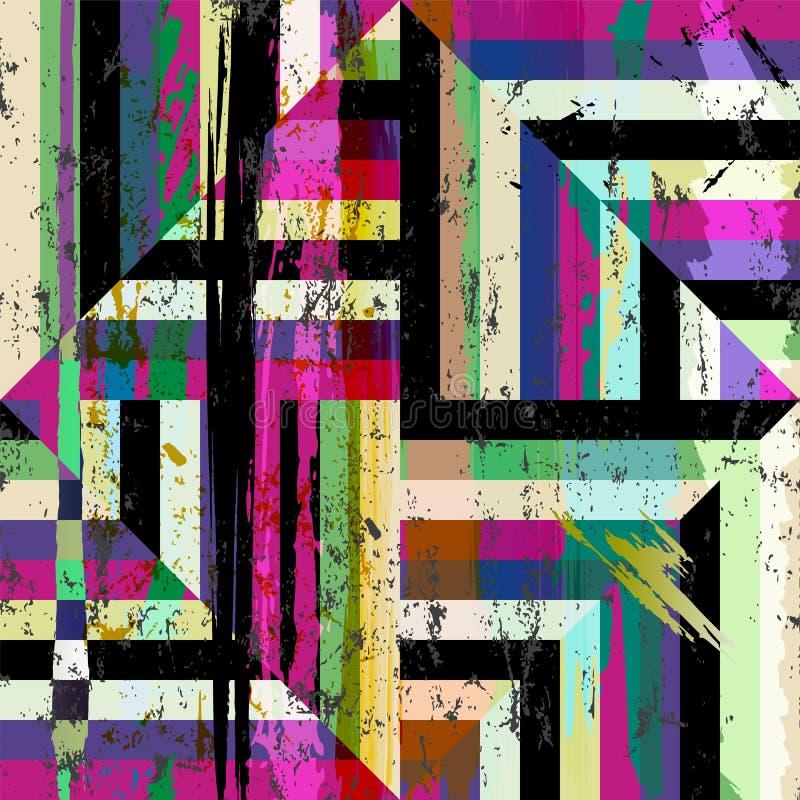 Fundo geométrico abstrato do teste padrão ilustração royalty free