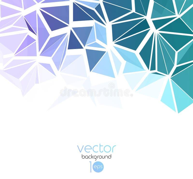Fundo geométrico abstrato do vetor com triângulo ilustração do vetor