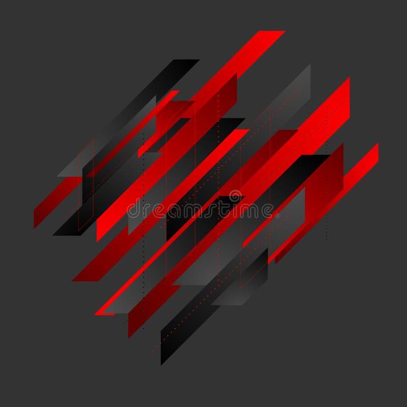 Fundo geométrico abstrato do vetor da tecnologia do polígono ilustração do vetor