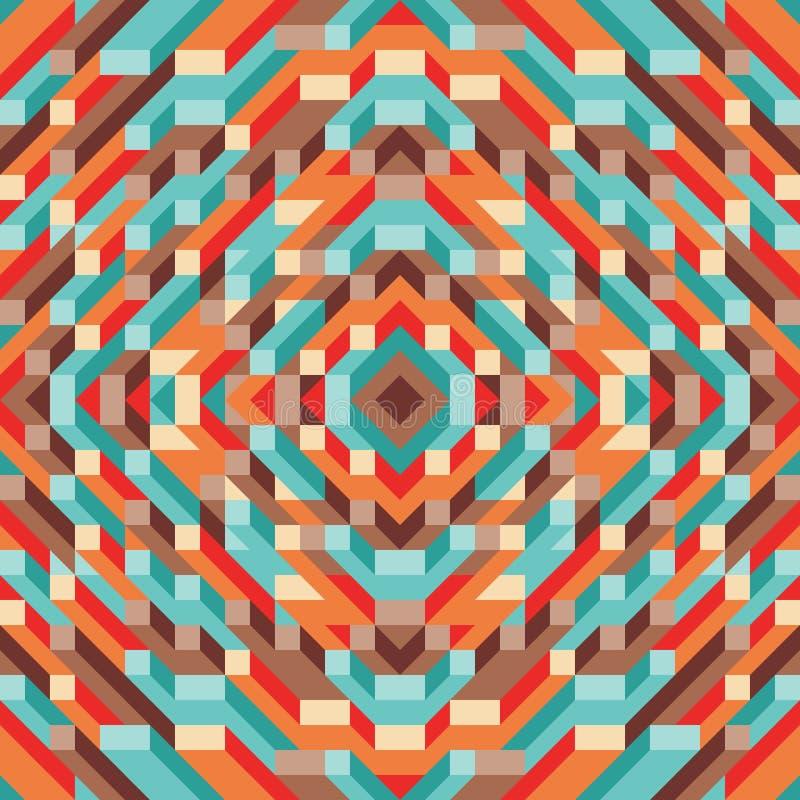Fundo geométrico abstrato do vetor para a apresentação, a brochura, o Web site e o outro projeto de design Teste padrão colorido  ilustração do vetor