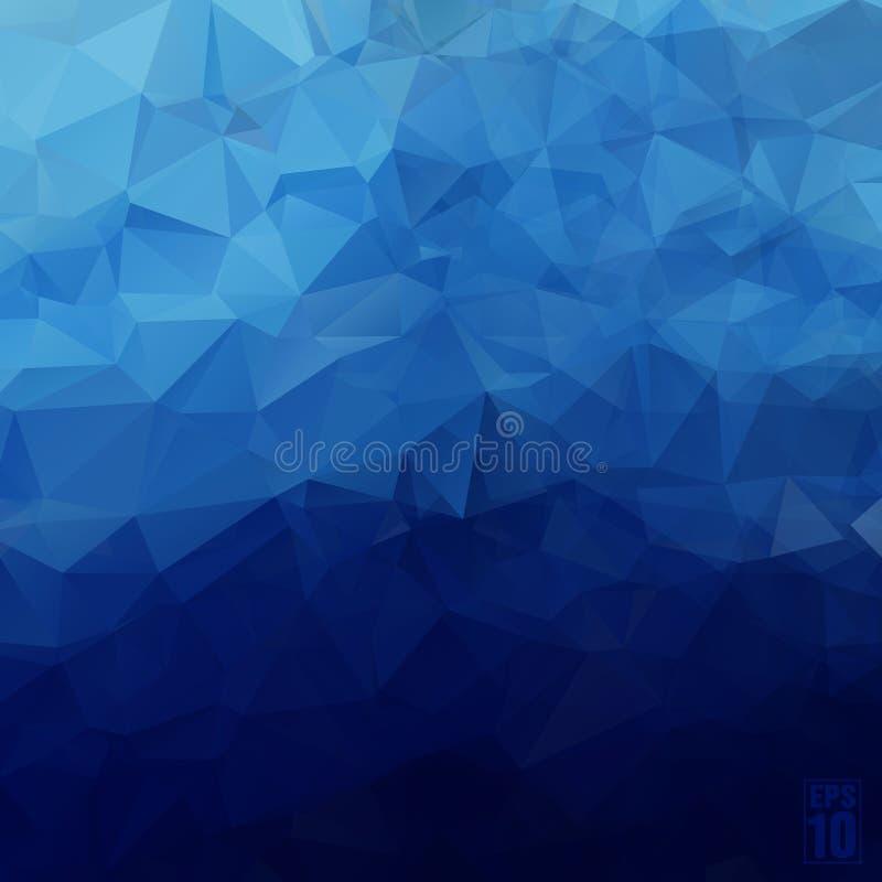 Fundo geométrico abstrato dos triângulos no azul ilustração royalty free