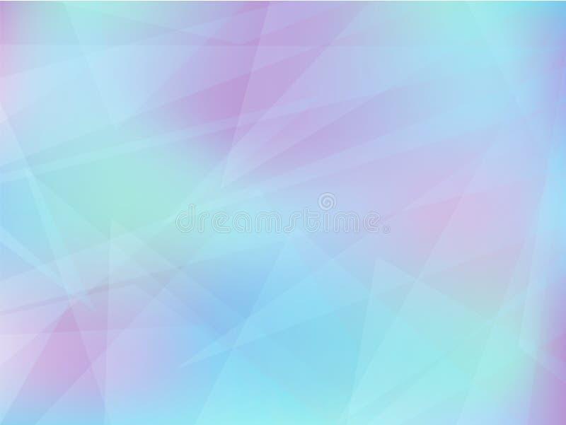 Fundo geométrico abstrato em cores claras ilustração do vetor