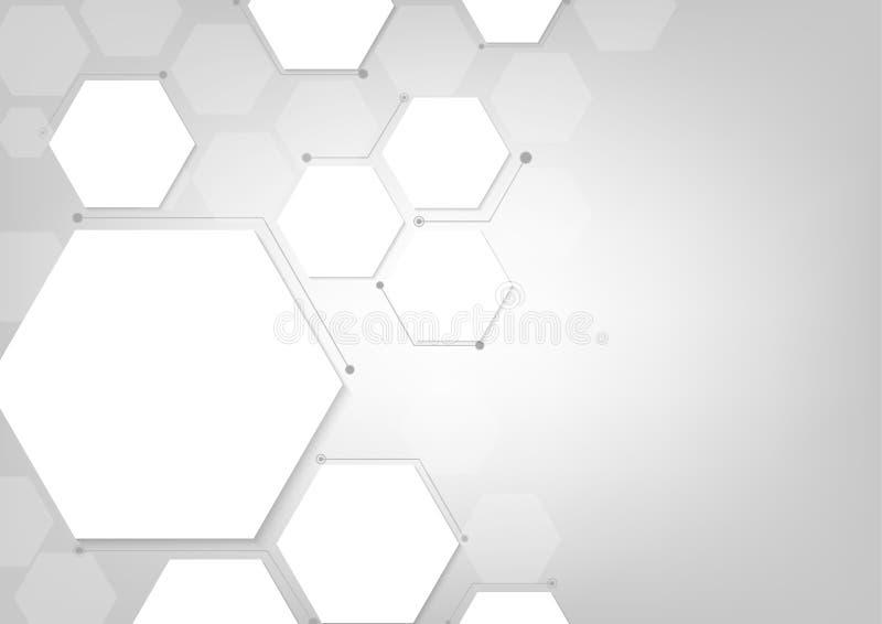 Fundo geométrico abstrato poligonal cinzento, ilustrador do vetor ilustração stock