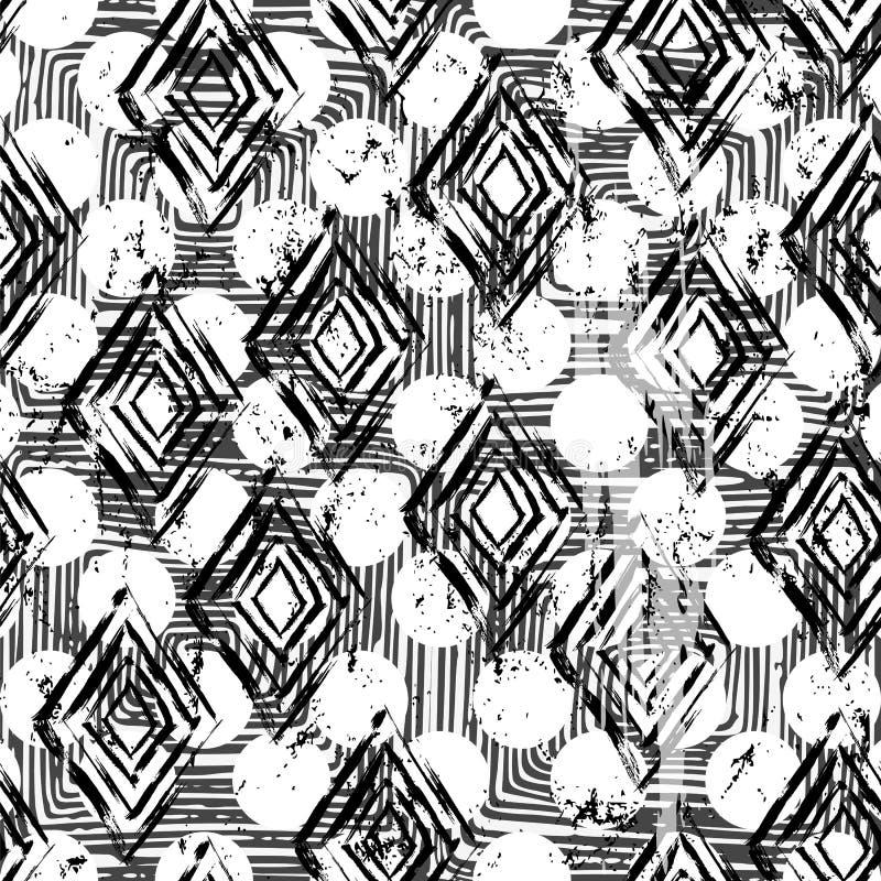 Fundo geométrico abstrato sem emenda ilustração do vetor