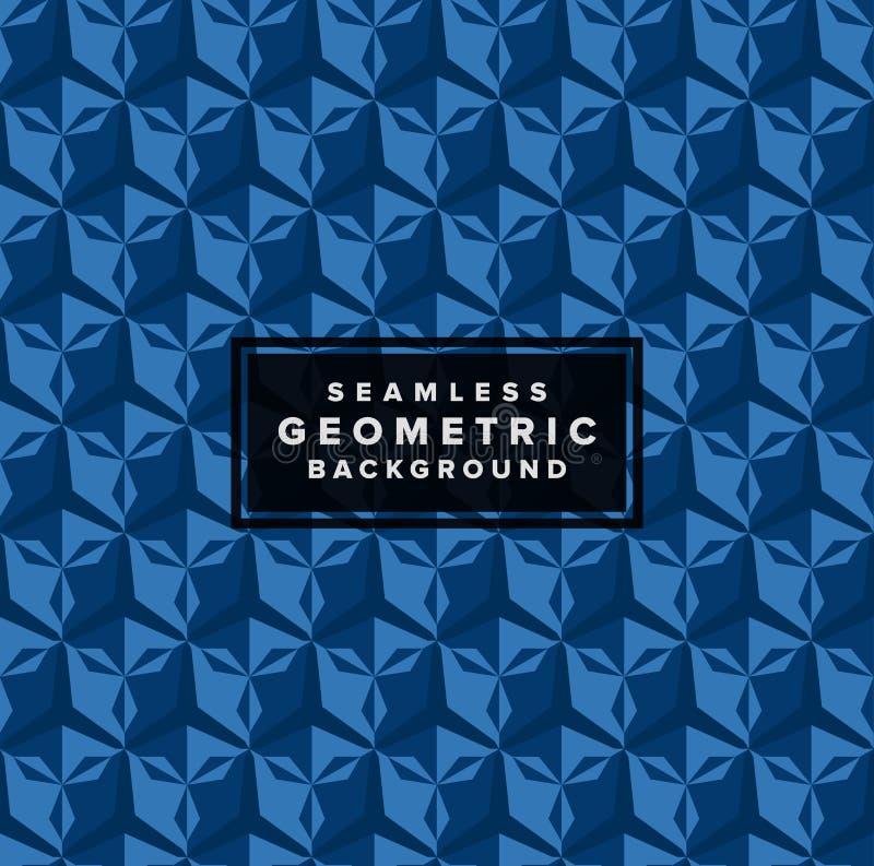 Fundo geométrico abstrato sem emenda do teste padrão 3d do vetor ilustração royalty free