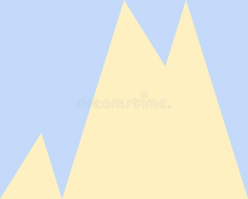 Fundo geométrico abstrato, teste padrão amarelo azul dos triângulos ilustração stock