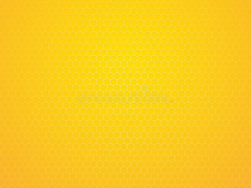 Fundo geométrico amarelo do hexágono do sumário ilustração royalty free