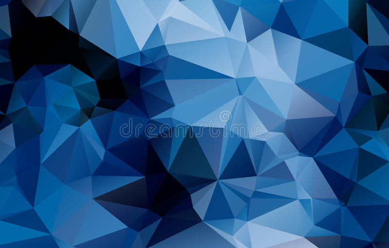 Fundo geométrico azul   ilustração royalty free