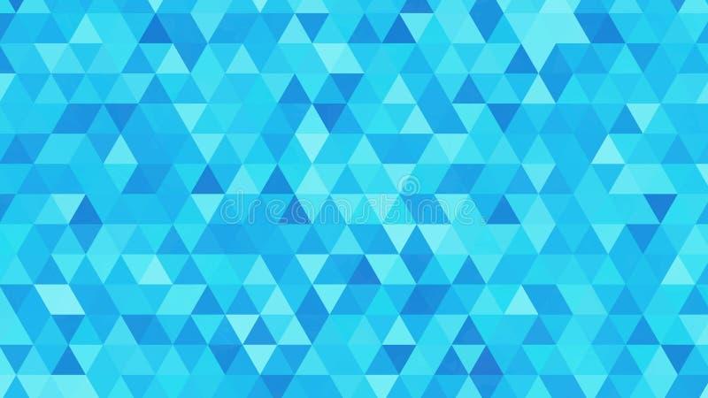 Fundo geométrico azul abstrato com triângulos ilustração stock