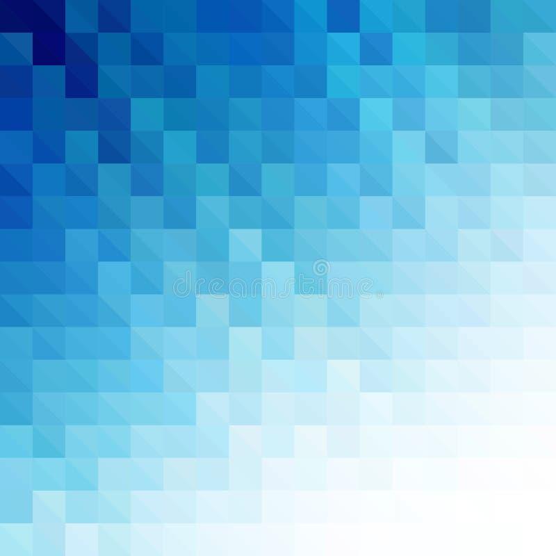 Fundo geométrico azul abstrato da tecnologia ilustração royalty free