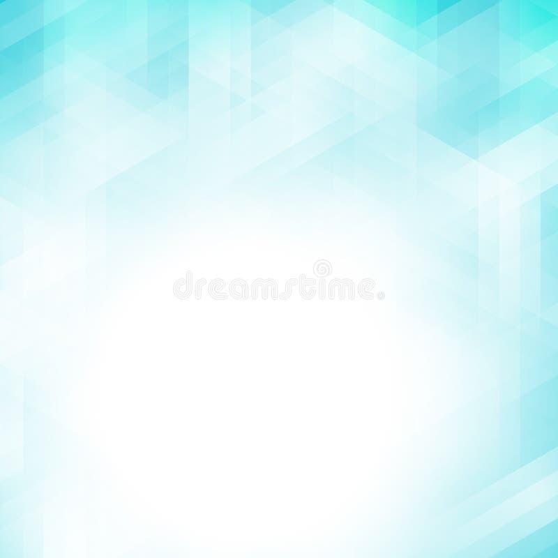 Fundo geométrico azul abstrato do pixel ilustração stock